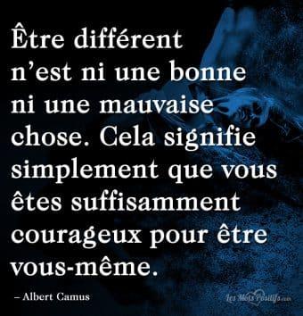 Être différent n'est ni une bonne ni une mauvaise chose