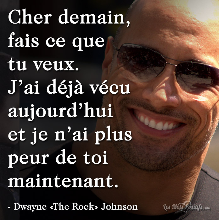 Citation Cher demain …