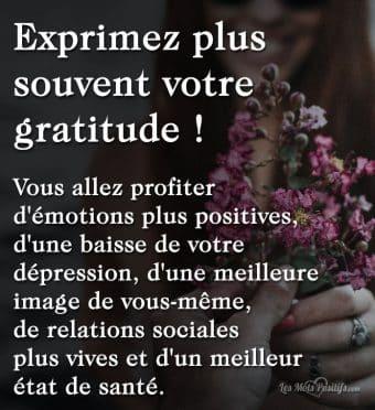 Exprimez plus souvent votre gratitude !