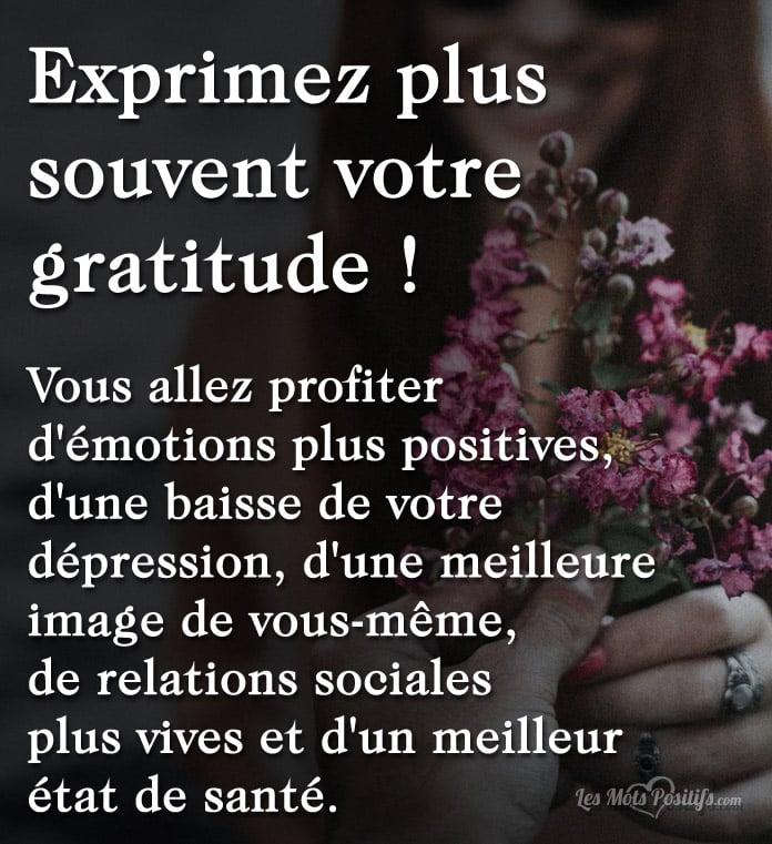 Citation Exprimez plus souvent votre gratitude !