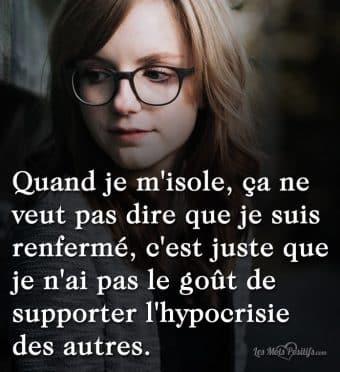 Supporter l'hypocrisie des autres