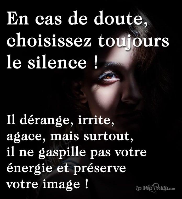Citation Choisissez toujours le silence