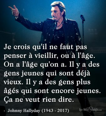 Citation hommage à Johnny Hallyday