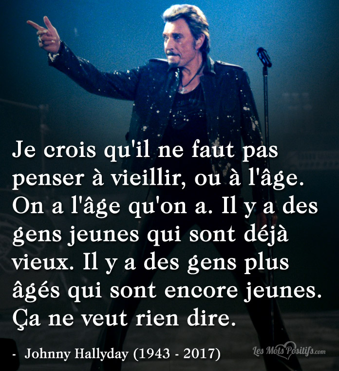 Citation Citation hommage à Johnny Hallyday
