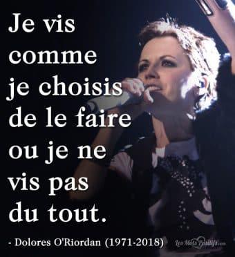 Citation hommage à Dolores O'Riordan (1971-2018)