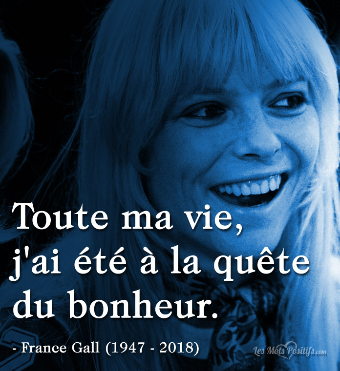 Citation Citation hommage à France Gall (1947 – 2018)