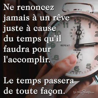 Le temps passera  de toute façon