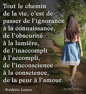 Le chemin de la vie selon Frédéric Lenoir