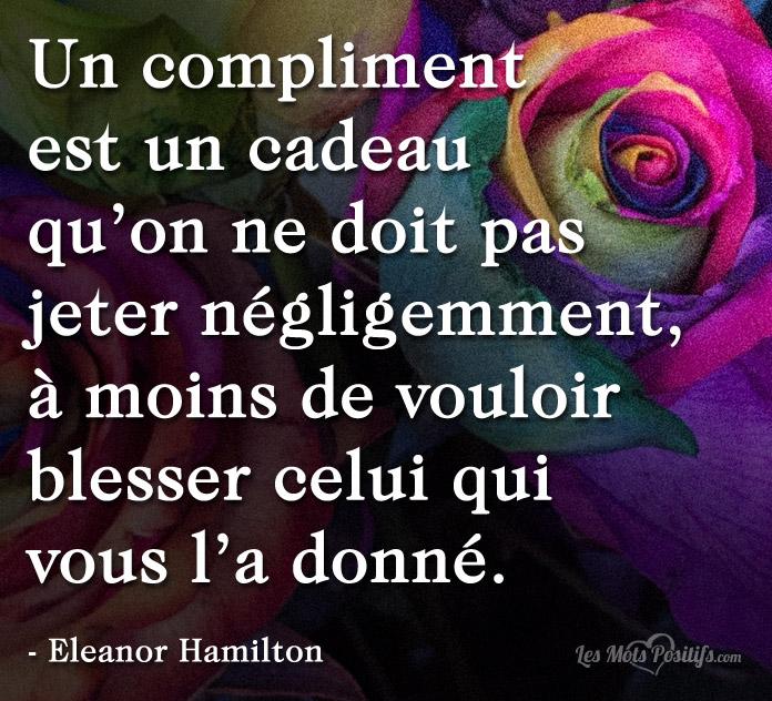Citation Un compliment est un cadeau