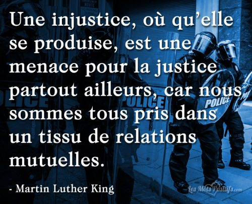 L'injustice selon Martin Luther King