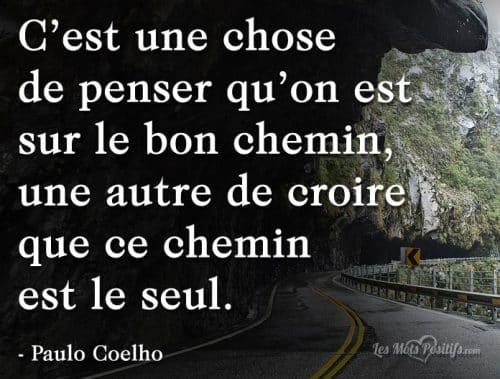 Le bon chemin selon Paulo Coelho