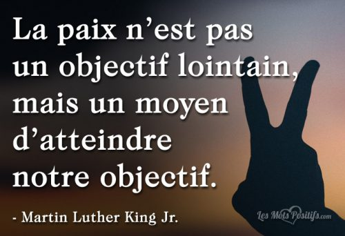La paix selon Martin Luther King