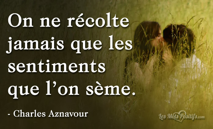 Citation Citation de Charles Aznavour sur l'amour