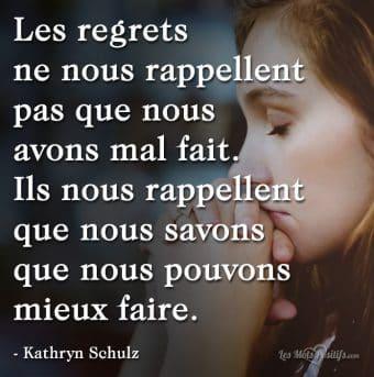 Tirez des leçons de vos regrets