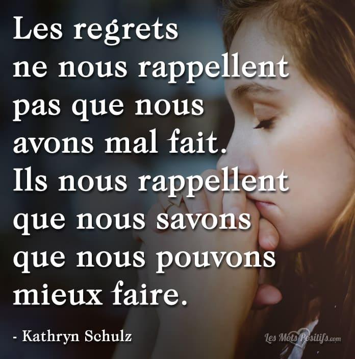 Citation Tirez des leçons de vos regrets
