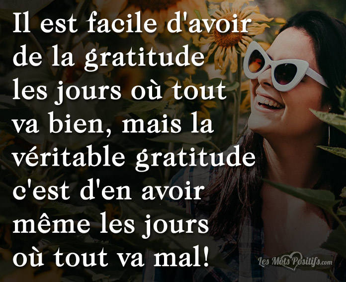 Citation La véritable gratitude