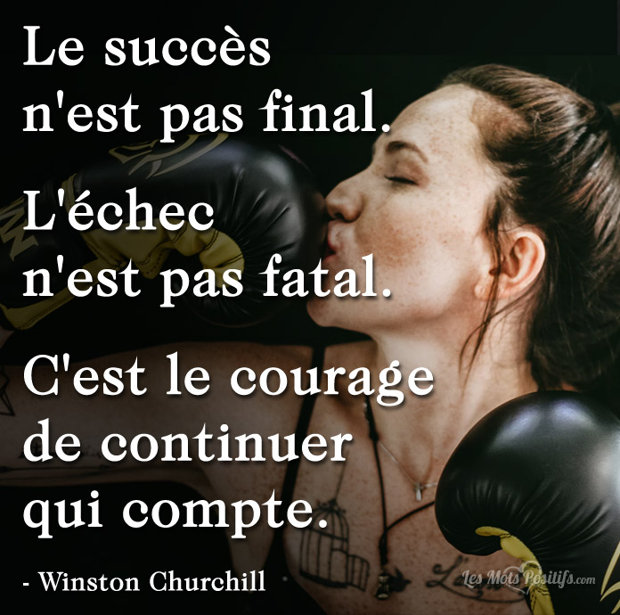 Citation La persévérance selon Winston Churchill