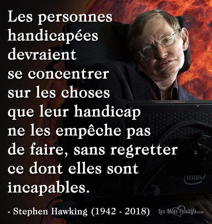 Citation Citation hommage à Stephen Hawking (1942 – 2018)