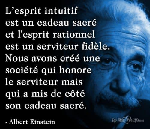 L'esprit intuitif  est un cadeau sacré