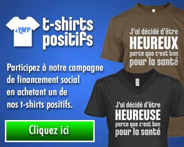 T-shirt citation positive