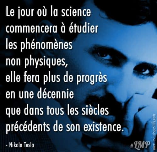 L'étude de la science selon Nikola Tasla