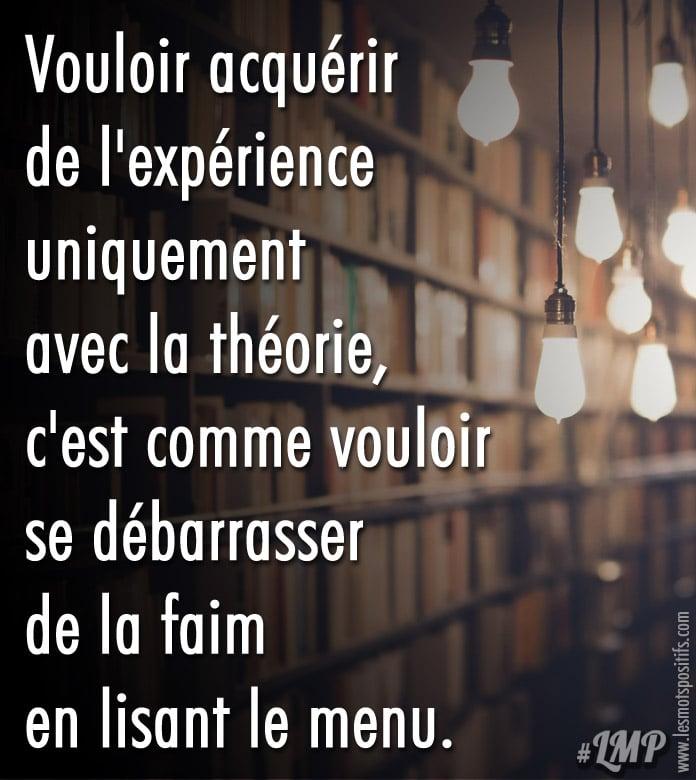 Citation Expérience vs. Théorie