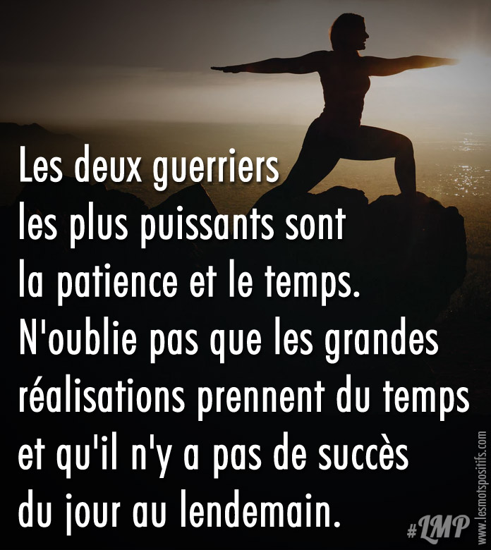 Citation La patience et le temps