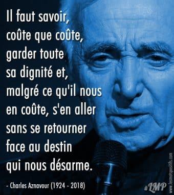 Citation hommage à Charles Aznavour (1924 – 2018)