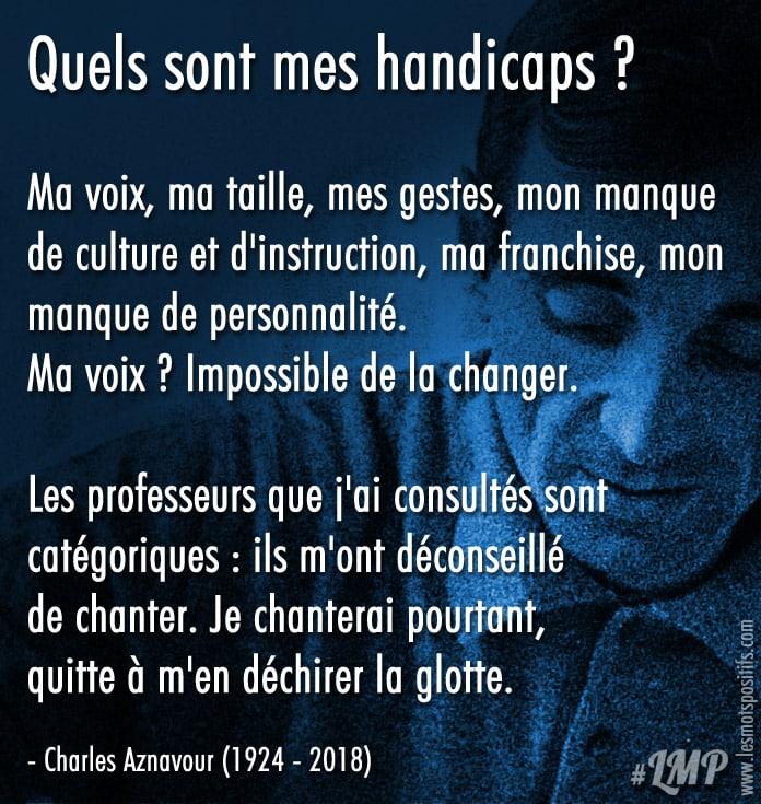 Citation Charles Aznavour – Un exemple de confiance en soi