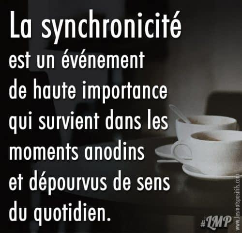 La synchronicité est un événement de haute importance