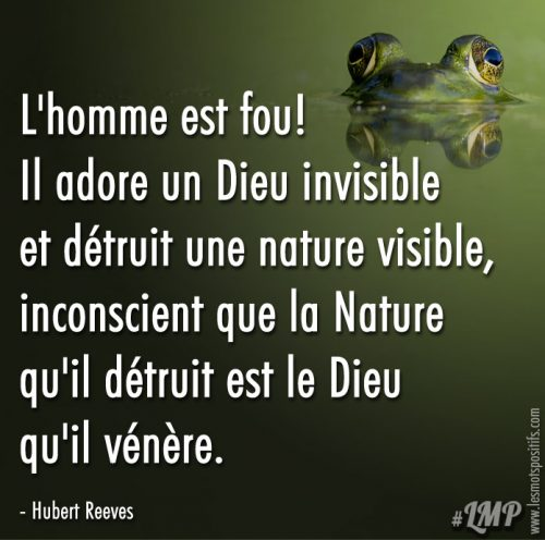 La folie de l'homme selon Hubert Reeves