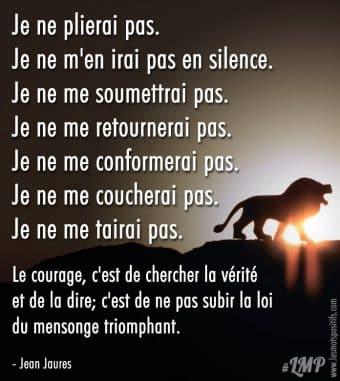 Le courage, c'est de chercher la vérité et de la dire