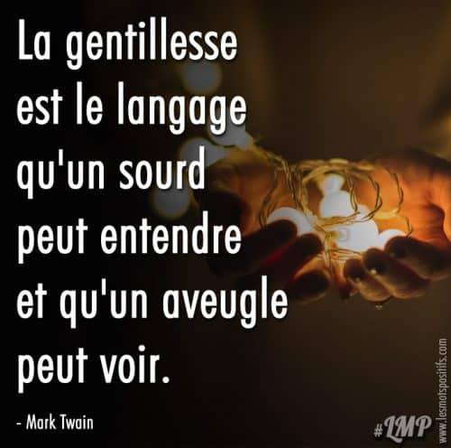 Le langage de la gentillesse selon Mark Twain