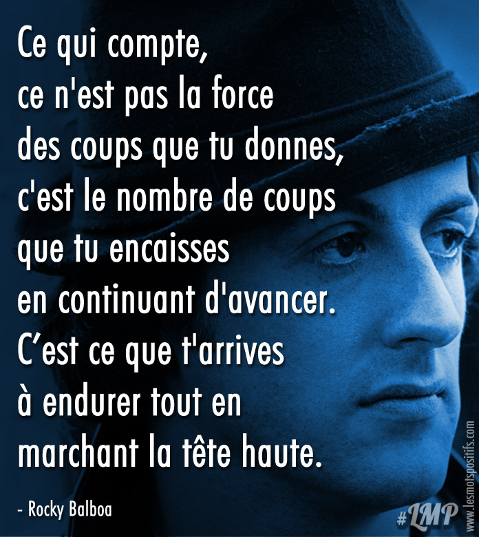 Citation La persévérance selon Rocky Balboa