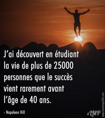 Le succès vient rarement avant l'âge de 40 ans