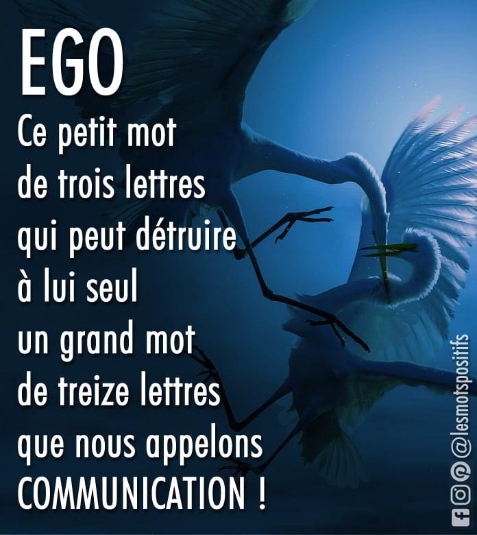 Citation L'ego est l'ennemi de la communication