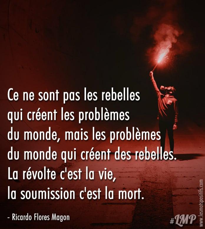 Ce ne sont pas les rebelles qui créent les problèmes du monde ...