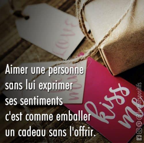 Aimer une personne sans exprimer ses sentiments