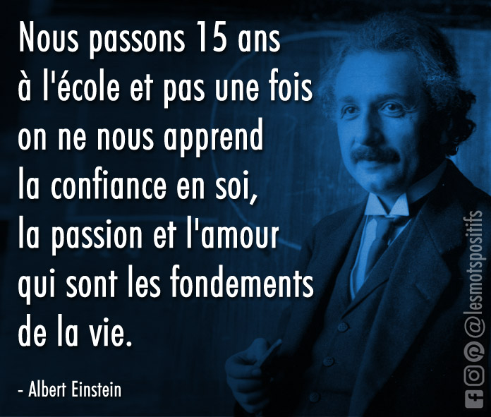 Citation La confiance en soi, un fondement de la vie selon Albert Einstein