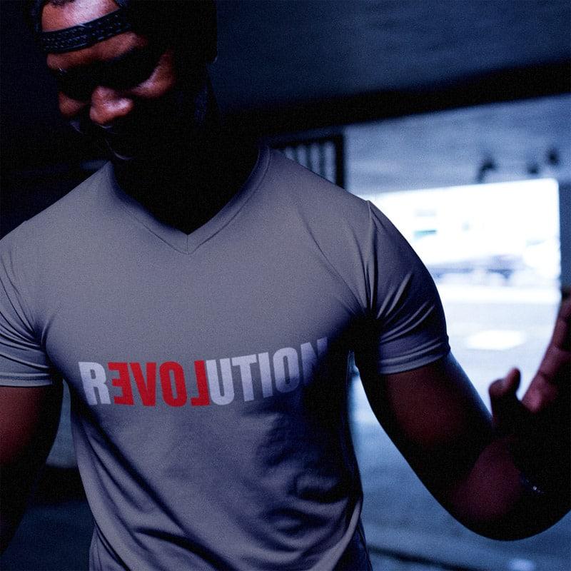 Tee-shirt de la révolution d'amour pour hommes