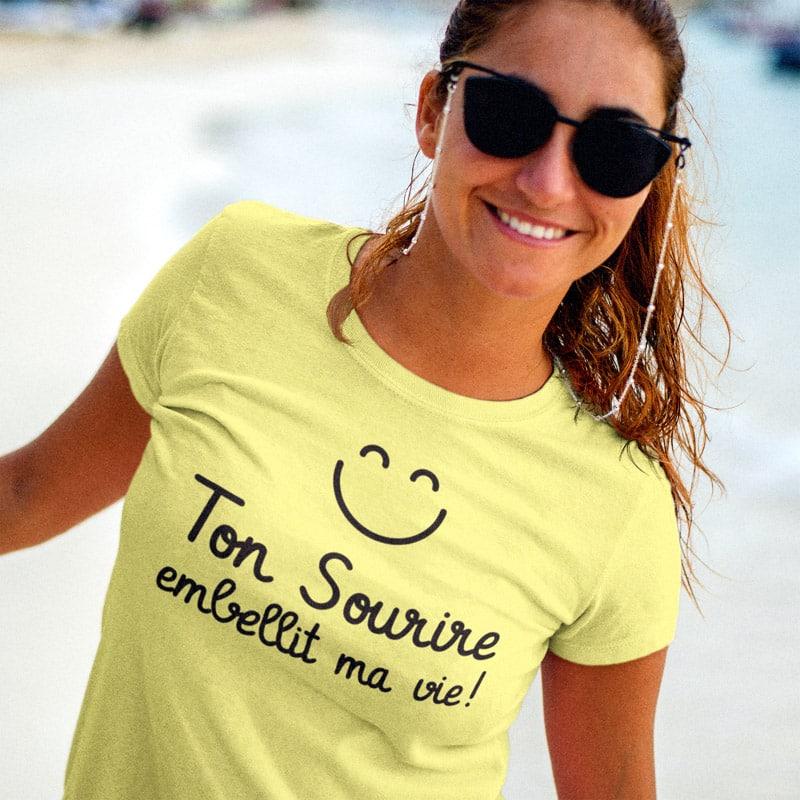 Tee-shirt générateur de sourires pour femmes