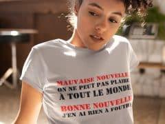 Tee-shirt pour femmes authentiques qui assument ce qu'elles sont