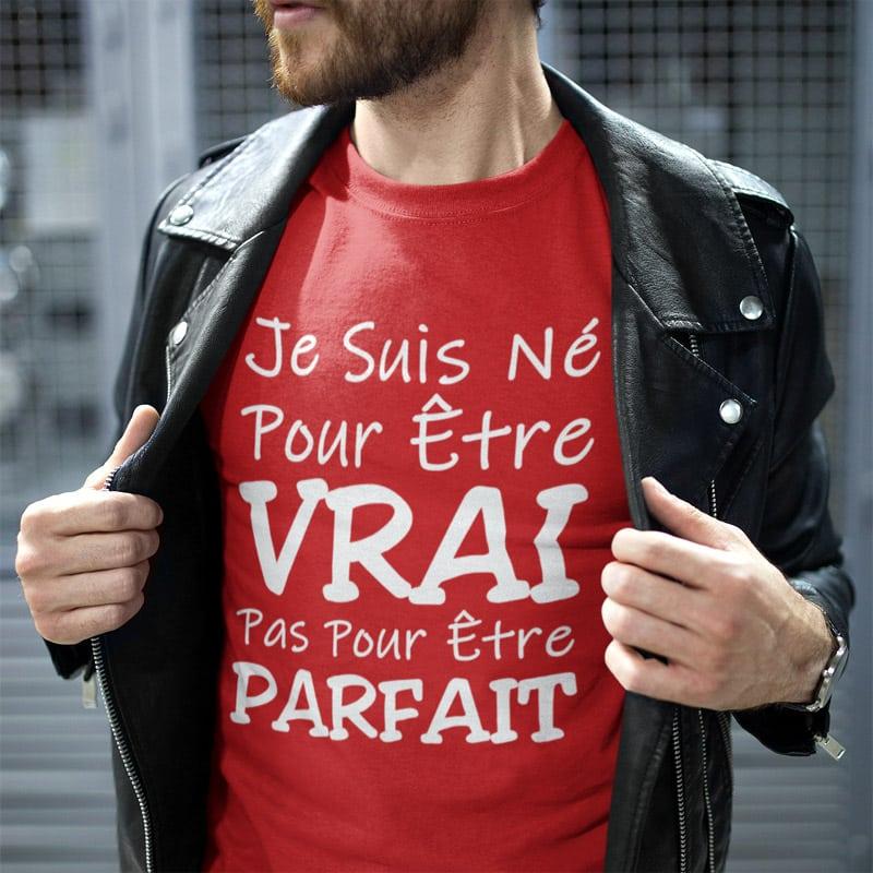 Tee-shirt pour homme authentique et vrai