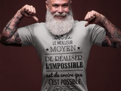 Tee-shirt pour les hommes qui sont confiants pour réaliser l'impossible