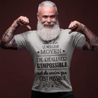 Le meilleur moyen de réaliser l'impossible est de croire que c'est possible