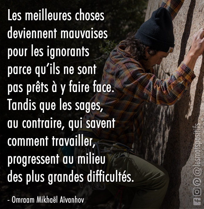 Citation La sagesse selon Omraam Mikhaël Aïvanhov