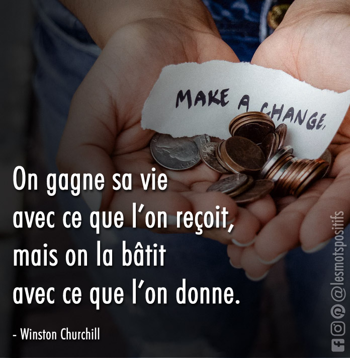 Citation La générosité selon Winston Churchill