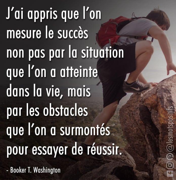 Citation Les obstacles que vous apprenez à surmonter définiront votre succès