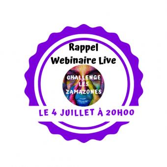 Webinaire Live » Présentation du «Challenge Les ZamaZones»