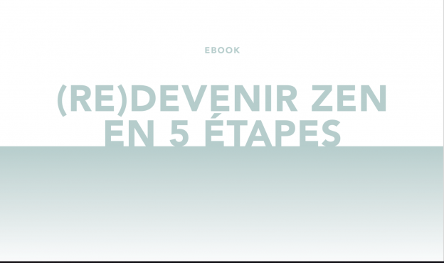 Ebook gratuit – (Re) Devenir Zen en 5 étapes
